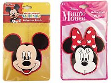 Disney Mickey Mouse and Minnie Mouse Head Shaped 3D Adhesive Patch Set of 2 S...