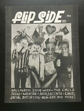 FLIPSIDE FANZINE ISSUE #20 MAGAZINE SOCIAL DISTORTION CIRCLE JERKS WEIRDOS POSH