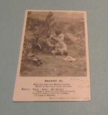 1906 Navajo Indian Maiden with Black Boyfriend RPPC Real Photo Postcard Antique