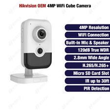 Hikvision DS-2CD2443GO-IW OEM 4MP WDR WiFi Cube Camera PIR Built-in Mic&Speaker