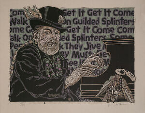 """Guilded Splinters"" Poster RIP Mac Rebennack Dr. John S/N 115 Gary Houston COA"