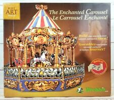 Built Art The Enchanted Carousel Musical Motion 3D Puzzle Wrebbit 1998 Open Box