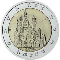 2 euro Germania 2012 Bayern - Castello di Neuschwanstein zecca: G