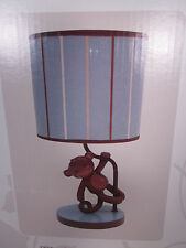 Monkey Nursery Lamp with Shade LAMBS & IVY Giggles Baby 533024B Blue Brown White