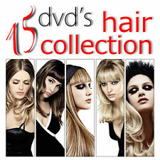 15 DVD LEARN HOW TO CUT HAIR WOMAN MEN COLORING CUTTING COSMETOLOGY TRAINING SET
