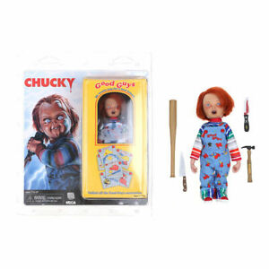 """NECA Child's Play 8"""" Chucky Clothed Good Guy Doll Action Figure Model Toy Kids"""
