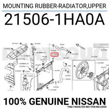 2150651S01 Genuine Nissan MOUNTING RUBBER-RADIATOR,UPPER 21506-51S01