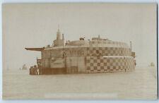 Spitbank Fort Sea Fort Portsmouth Hampshire Antique RP Photo Postcard