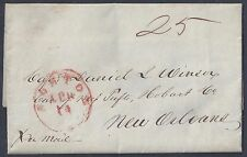 US BOSTON AUG 14 1845 TO NEW ORLEANS CAT MINSON WRITES OF OFFERS SHIPS FOR SALE