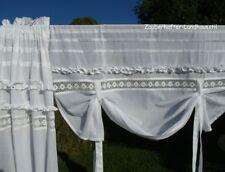 Raff Gardine JULIE Rollo weiß 140 cm breit Shabby Chic Vintage Curtain