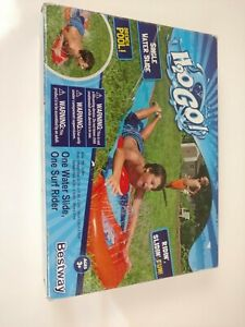 H2O Go Single Water Slide with Inflatable Surf Rider Bestway For Ages 3+