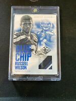 2012 Russell Wilson Panini Limited Blue Chip Rookie RC Jersey /25 3 Color