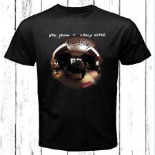 Neil Young Crazy Horse Ragged Glory Logo Men's Black T-Shirt Size S-3XL