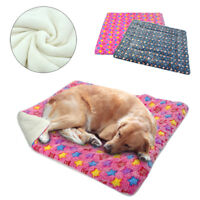 Fleece Dog Bed Mat Pad Warm Pet Dog Cat Rug for Puppy Medium Large Dogs S-XL