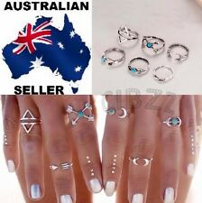 Knuckle Rings Finger Jewellery Boho Surf Steampunk Vintage Silver Quality6pc SET