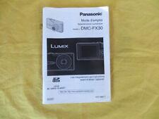 PANASONIC DMC FX30 - mode d'emploi