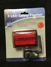 SE 3 LED Safety Flasher Cyclists Joggers Hikers Kids Halloween Night Visibility