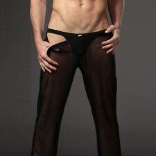Men's Sheer Loose Yoga Pants Sports Home Casual Trousers Lounge Pantalons Trunks