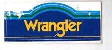 Genuine 1970's WRANGLER  Promotional Sticker FC