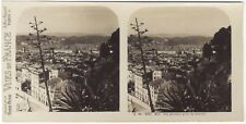 Nice Panorama Photo Stereo Stereoview Papier Argentique Vintage