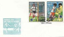(49226) CLEARANCE Nicaragua  FDC Football European Cup - 14 April 1988