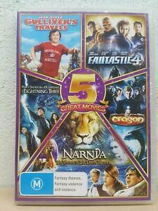 Gulliver's Travels + Fantastic 4 + Eragon + Lightning Thief + Narnia - DVD 5 SET