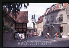 1969 kodachrome photo slide Visby Gotland Sweden  VW volkswagen bug car