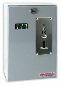 Münzautomat Beckmann EMS 57, Münzgerät mit Zeitanzeige von Münzer24