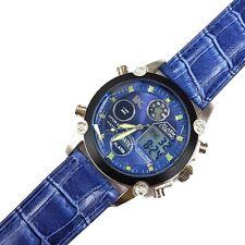 Orologio Polso YK D27 Uomo Analogico Digitale Cronografo Data Sveglia Blu lac