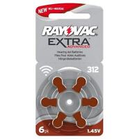 Rayovac 312 - 10 Packs Of 6 - 60 Batteries In Total