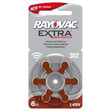 Rayovac 312 Hearing Aid Batteries- BROWN 10 Packs Of 6 - 60 Batteries In Total