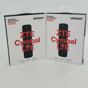 Lot of 2 - Verizon ZTE Cymbal LTE Silver Prepaid Phone 4GB 2MP 1 GHz Quad Core