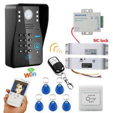Wireless WIFI RFID Password Video Door Phone Doorbell +Electric Drop Bolt Lock