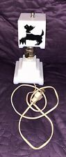 ART DECO  SCOTTIE DOG  SMALL NIGHT STAND  LAMP  BOUDOIR  BEDROOM  MID CENTURY