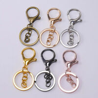 5PCS DIY Key Rings Key Chain Jewelry Findings Lobster Clasp Keyring Making