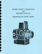 Hasselblad 500EL Camera Body (1965-1967) Service & Repair Manual Reprint
