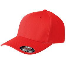 NEW FLEXFIT MESH CAP FITTED BLACK PLAIN BASEBALL GOLF FLEXIFIT PEAK HAT S-M-L-XL