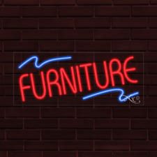 "Brand New ""Furniture"" w/Logo 32x13X1 Inch Led Flex Indoor Sign 30800"