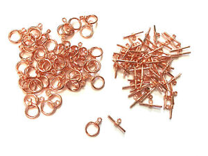 50 sets Rose Gold 17mm Toggle Clasps Jewelry Necklace Bracelet Clasp Closure 62x