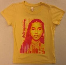 Alicia Keys The Diary Of. Junior Size Small Yellow T-Shirt