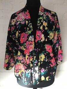Gok Tu Ladies Floral Kimono Size 12 Lined