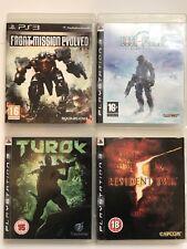 PS3 Game Bundle -Resident Evil 5+Turok+Front Mission Evolved+Lost Planet -(671)
