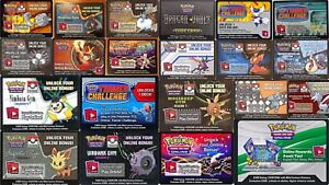 Random Code Mix - DECK BONUS PROMO TIN BOX Codes ~ Pokemon XY B&W ONLINE RAPID