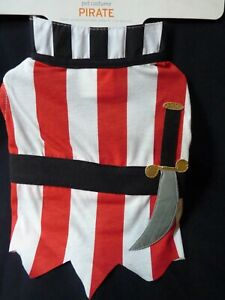 Dog Pet Pirate Costume One Piece Knit Size Small (up to 20 lbs)  Adjustable NEW