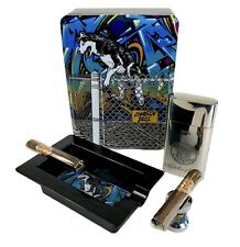 New ListingDrew Estate Chasin Tail Collectible Cigar Tin With Ashtray, Stand & Case New