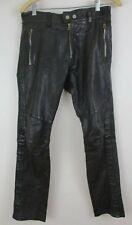 Diesel Black leather Pants 26 biker moto HOT sheep leather women's