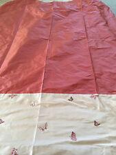 STUNNING Laura Ashley Design Service silk & Butterfly Curtains 125 cm wide