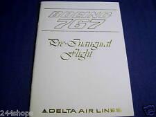 DELTA AIR LINES VINTAGE BOEING 767 PRE-INAUGURAL FLIGHT INVITATION 12/8/1982