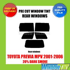 TOYOTA PREVIA MPV 2001-2006 20% DARK REAR PRE CUT WINDOW TINT