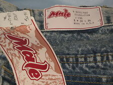 "Vintage Men's Blue Acid Wash ""Male"" Brand Jeans 30/34 NWT Made in USA #CL57"